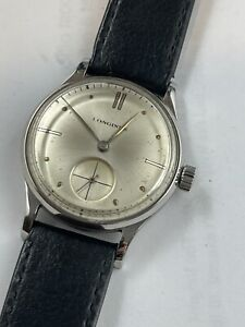 Vintage Longines Stainless Steel buble Back Mens Watch
