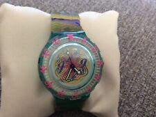 "1993 Swatch ""Sea Floor' Watch Vintage Swiss Wristwatch Scuba Diving 200 Meters"