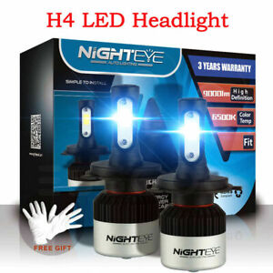 NIGHTEYE H4 HB2 9003 LED Headlight Kit Light Bulbs High/Low 72W 9000LM/Set White