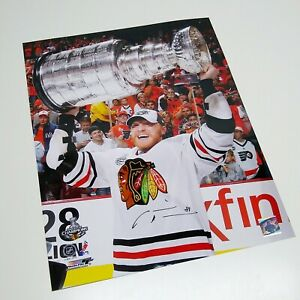 Marian Hossa Chicago Blackhawks Signed 2010 Stanley Cup Autographed 16x20 Photo