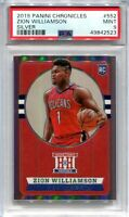 2019-20 Chronicles Silver 552 Zion Williamson Hometown Heroes Rookie PSA 9 MINT