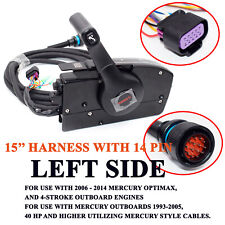 Left Side 14-Pin Mercury Outboard Engine Mount Remote Control Box  Yatch Boat