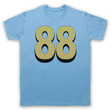 ACID HOUSE 88 SMILE FACE SMALL SKY BLUE MENS T-SHIRT