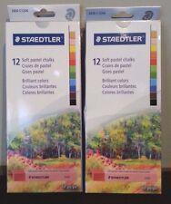 Staedtler Karat 2430 Soft Pastel Chalk - Assorted Colors- 12 /Pack C12A6--2 Lot