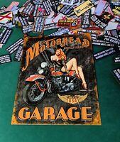 2 Motorhead Garage Retro Vintage Metal Wall Sign