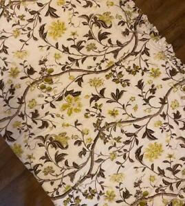 BEAUTIFUL Flax Linen Woodsy Floral FULL/QUEEN Duvet + Pillow Shams