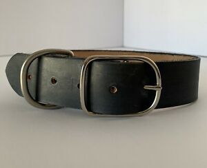 ADJUSTABLE LEATHER 1.5 INCH WIDE DOG COLLAR