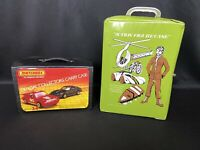 Matchbox Official Collectors 24 Car Case w/ Blue Car Holder & Action Figure Case