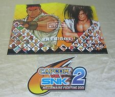 2001 CAPCOM VS. SNK 2 PROMO DISPLAY