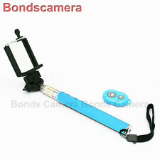Selfie Bluetooth Remote Extendable Handheld Monopod for iOS Android phone Blue