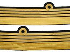 Cuff Rank Sleeve Curls on Cloth Admiral Sold Pair R897