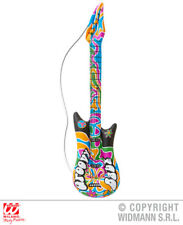 Inflatable Groovy Guitar 105 Cm 1970S Hippy Fancy Dress Costume Accessory