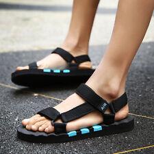 Summer Men's sandals open-toed Casual Beach Slipper Blue size 42