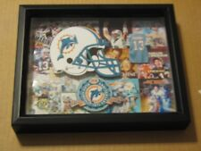 VINTAGE DAN MARINO ABOUT 15 PICTURES IN A BLACK FRAME , RARE , ONE OF A KIND