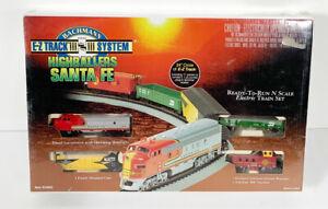 BACHMAN E-Z Track Highballers Santa Fe N Gauge Electric Train Set New/Sealed