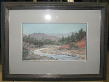 Impressionist Pastel of Wyoming River Landscape Listed Cody Wyoming Artist