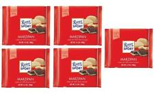 Ritter Sport MARZIPAN chocolate square bars 100g (Pack of 5)