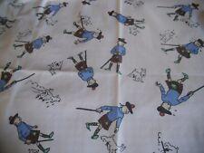 "coupon tissu  "" Tintin ""   46  X 84  cm (   HERGE 1991  )"