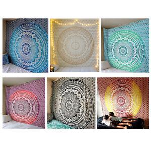 Mandala Bohemian Yoga Mat Strandtuch Schal Decke Indische Wandbehang Wandteppich