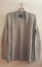 ZARA Gr. M Strickjacke Jacke Cardigan Strick Grau Wolle Wool knit jacket Neu
