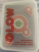 Kikkerland Poker Playing Cards Glow in the Dark  New Sealed
