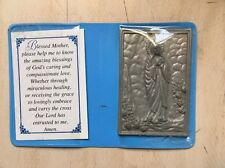 VTG BLESSED MOTHER MARY LADY OF LOURDES PRAYER RAISED FEATURES OBLATE MISSIONS