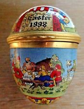 Halcyon Days English Enamels Easter Egg 1998 with a Medieval Country Fair Theme