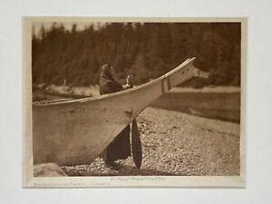 Original Edward S. Curtis Photogravure - Watching For The Salmon - Quinault