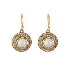 Melinda Maria 14K Gold Plated Jade Drop Moonstone Crystal CZ Pave Earrings $170