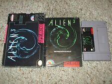 Alien 3 (Super Nintendo Entertainment System SNES, 1993) Complete in Box FAIR