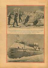 Soldiers of Reichswehr Black Forest/Submarine Scotland Dalmuir 1929 ILLUSTRATION