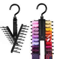 Tie Hanger Organizer Rack 2 pcs Scarf Belt Holder Tie Rack Closet Organizer