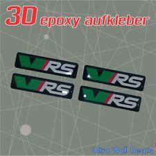 4 x VRS 3D Aufkleber Gel Sticker Auto Superb Octavia Fabia Rapid Neu 40mm x 10mm