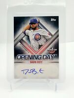 2021 Topps Opening Day Autograph DAVID BOTE #ODADB Auto Chicago Cubs