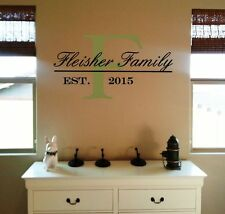 Personalized Wall Decal Family Name & Established Date