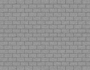 "O Scale Stone Large Blocks (1""x.1/2"") Model Train Scenery Sheets -Five 8.5""x11"""