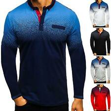 Men's Polo Shirt Golf Sports Cotton T Shirt Jersey Casual Long Sleeve