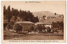 CPA 69 - POULE (Rhône) - 541 La Chavanne et le Crozet, au fond, la Roche d'Ajoux