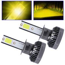 Mini H3 LED Bombilla Faros Antiniebla DRL 110W 22000LM Kit 3000K amarillo oro