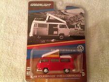 GREENLIGHT 1968 Volkswagen Type 2 Bus CAMPMOBILE, diecast