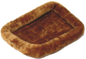"Midwest QUIET TIME PET BED Dog Bed Plush Fur Cinnamon 18"",  22"", 24"", 30"""