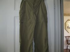 "LADIES TAN ""THE NORTH FACE"" CASUAL NYLON PANTS, SIZE MEDIUM, FREE SHIPPING"