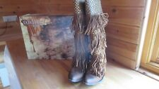 OLD GRINGO TAN SINTINO FRINGED COWBOY STYLE BOOTS