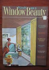 VTG 1961 KIRSH GUIDE TO WINDOW BEAUTY HOW-TO BOOK INTERIOR DESIGNS