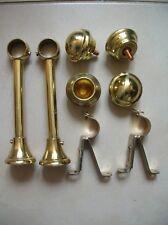 Lot accessoires de rideau pattes fixation boules de barre à rideau laiton doré