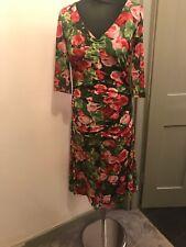 Isabel De Pedro Rose Pattern Ruched Detail Dress Size 10 Please Read Description