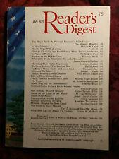 Readers Digest July 1975 Vivien Kellems Gloria Swanson W. Somerset Maugham