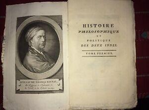 RAYNAL:  Histoire Philosophique et Politique Des DEUX INDES, 1783-1784.