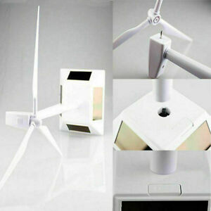 Windmühlen Modell Windkraftanlage Windrad Turbine Solarenergie Weiß Windmills DE