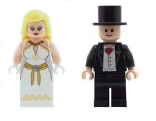 Personalizado diseñado Minifigura novia y el novio Boda Regalo Pastel B